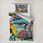 Abstract Eye Painting Toddler Bedding