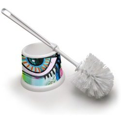 Abstract Eye Painting Toilet Brush