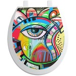 Abstract Eye Painting Toilet Seat Decal