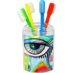 Abstract Eye Painting Toothbrush Holder