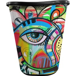 Abstract Eye Painting Waste Basket - Double Sided (Black)