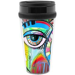 Abstract Eye Painting Travel Mugs