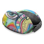 Abstract Eye Painting Travel Neck Pillow