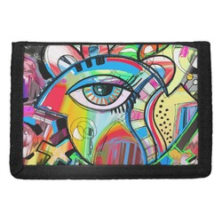 Abstract Eye Painting Trifold Wallet