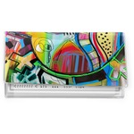 Abstract Eye Painting Vinyl Checkbook Cover