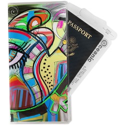 Abstract Eye Painting Travel Document Holder