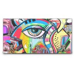 Abstract Eye Painting Wall Mounted Coat Rack