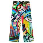 Abstract Eye Painting Womens Pajama Pants