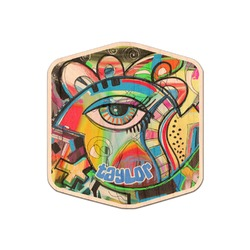 Abstract Eye Painting Genuine Wood Sticker