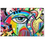 Abstract Eye Painting Woven Mat