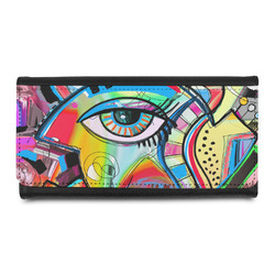 Abstract Eye Painting Leatherette Ladies Wallet