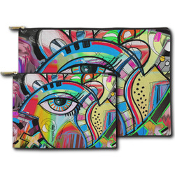 Abstract Eye Painting Zipper Pouch