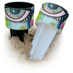 Abstract Eye Painting Beach Spiker Drink Holder