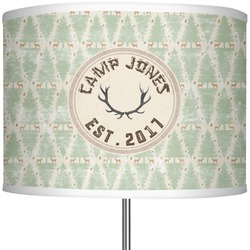 """Deer 13"""" Drum Lamp Shade Polyester (Personalized)"""