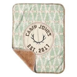 "Deer Sherpa Baby Blanket 30"" x 40"" (Personalized)"