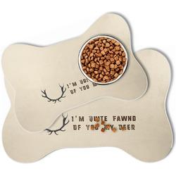 Deer Bone Shaped Dog Food Mat (Personalized)