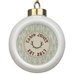 Deer Ceramic Ball Ornament (Personalized)