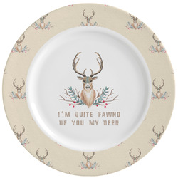 Deer Ceramic Dinner Plates (Set of 4) (Personalized)