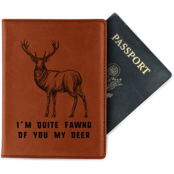 Deer Leatherette Passport Holder (Personalized)