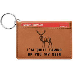 Deer Leatherette Keychain ID Holder (Personalized)