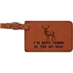 Deer Leatherette Luggage Tag (Personalized)