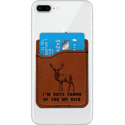 Deer Leatherette Phone Wallet (Personalized)