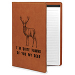 Deer Leatherette Portfolio with Notepad (Personalized)
