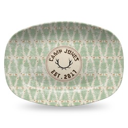 Deer Plastic Platter - Microwave & Oven Safe Composite Polymer (Personalized)