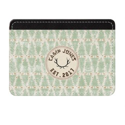 Deer Genuine Leather Front Pocket Wallet (Personalized)