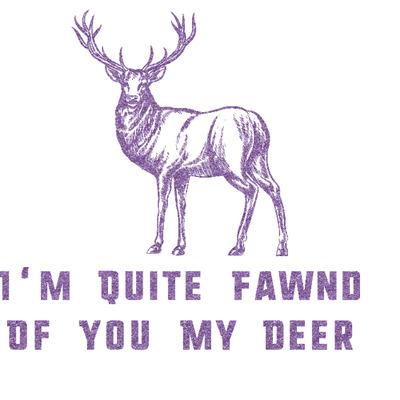 Deer Glitter Sticker Decal - Custom Sized (Personalized)