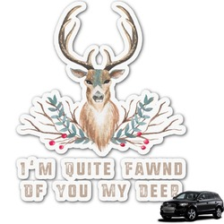 Deer Graphic Car Decal (Personalized)