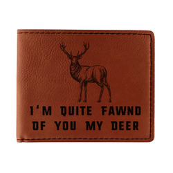 Deer Leatherette Bifold Wallet - Double Sided (Personalized)