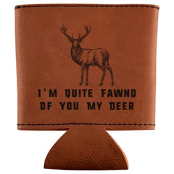 Deer Leatherette Can Sleeve (Personalized)