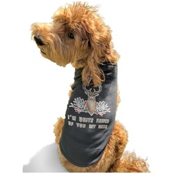 Deer Black Pet Shirt - Multiple Sizes (Personalized)