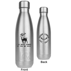 Deer RTIC Bottle - Silver - Engraved Front & Back (Personalized)