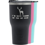 Deer RTIC Tumbler - Black (Personalized)