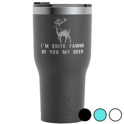 Deer RTIC Tumbler - Black (Personalized)