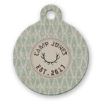 Deer Round Pet Tag (Personalized)