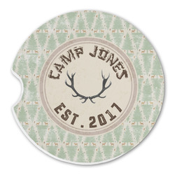Deer Sandstone Car Coasters (Personalized)