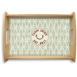 Deer Natural Wooden Tray (Personalized)