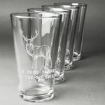 Deer Beer Glasses (Set of 4) (Personalized)