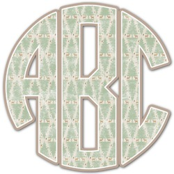Deer Monogram Decal - Custom Sized (Personalized)