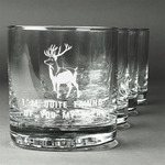 Deer Whiskey Glasses (Set of 4) (Personalized)