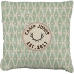 Deer Faux-Linen Throw Pillow (Personalized)