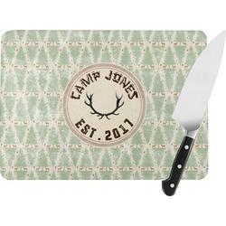 Deer Rectangular Glass Cutting Board (Personalized)