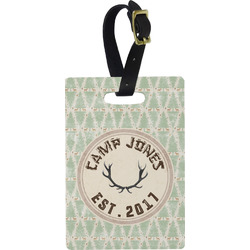 Deer Rectangular Luggage Tag (Personalized)