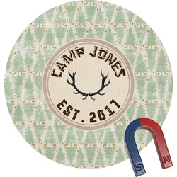 Deer Round Fridge Magnet (Personalized)
