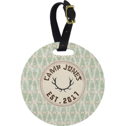 Deer Round Luggage Tag (Personalized)