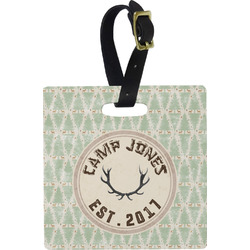 Deer Square Luggage Tag (Personalized)