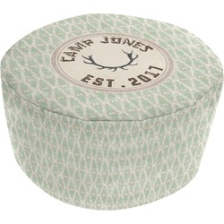 Deer Round Pouf Ottoman (Personalized)